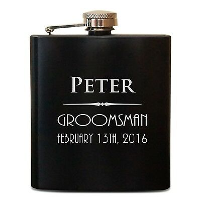 Best Man Gift ideas Wedding Personalized Flasks Groomsmen Personalized