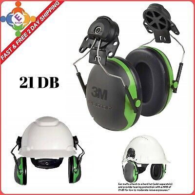 Hearing Protection Ear Muffs Hard Hat Cap Mount Noise Reduction Stainless Steel