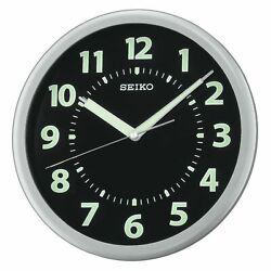 Seiko Easy Reader Luminous Black Dial Wall Clock QXA435SLH