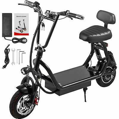 Adult Electric Scooter Black 400W Up to 35km/h Commuter Scooter Cellphone Mount