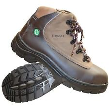 New Treksta Men Safety Work Boots Hiking Steel Top Cap Composite Hiker Hi Top