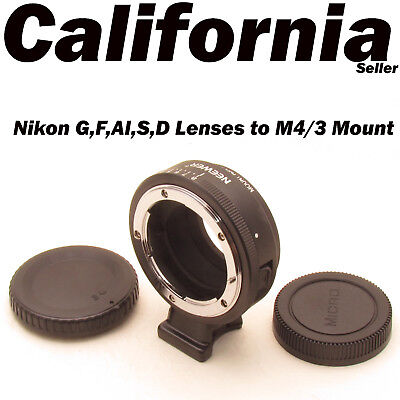 Nikon G F AI S D Lenses to M4/3 Mount Camera Lens Mount Adapter Olympus w Tripod