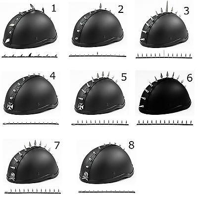 Metal Motorcycle Dirtbike Ski Biker Helmet Mohawk   Racing Helmet Spikes Horns