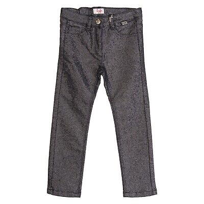 IL GUFO Trousers Size 3Y Stretch Lame Effect Textured Zip Fly Made in Italy