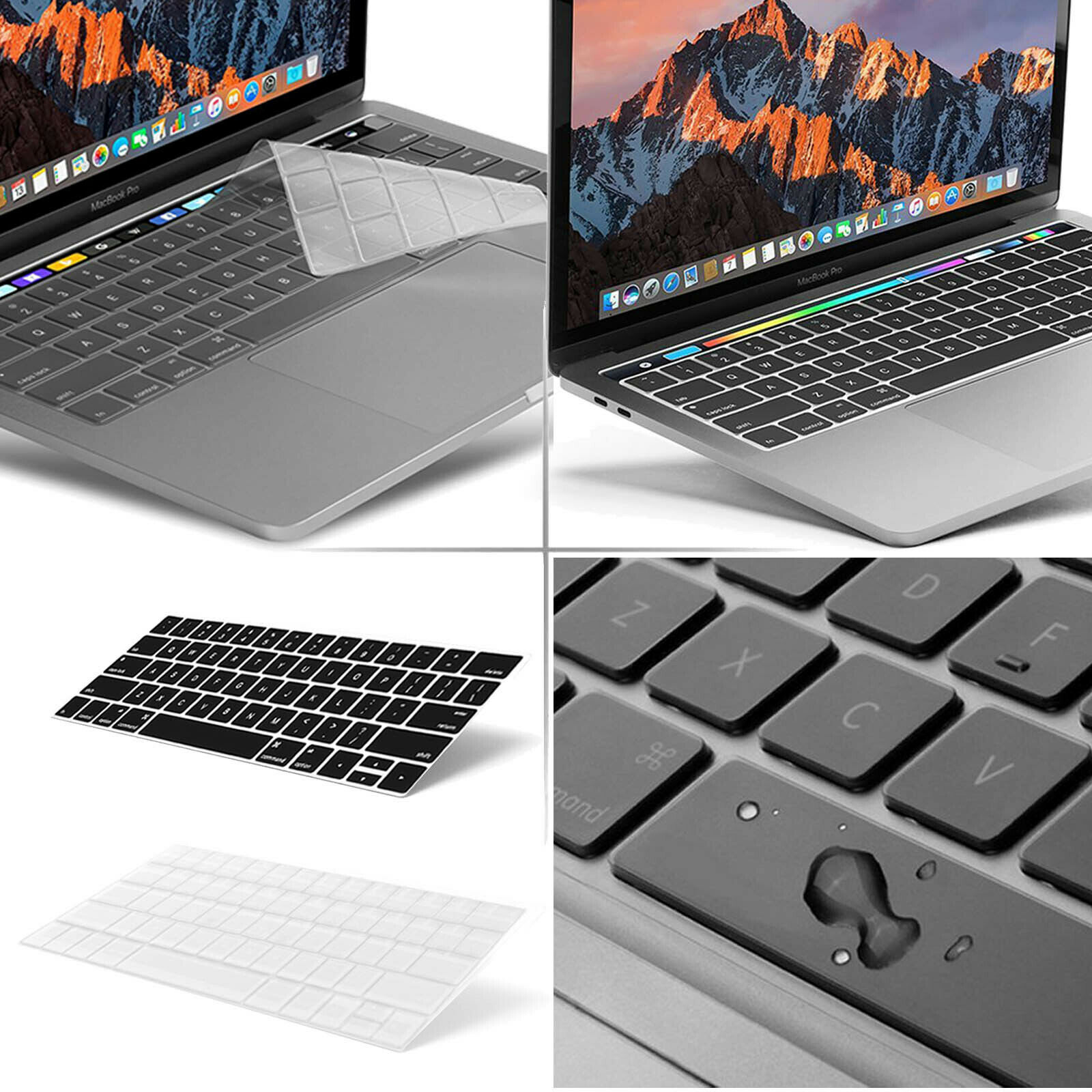 2-Pack Smart KEYBOARD Protector, Skin, Cover for Apple MacBo