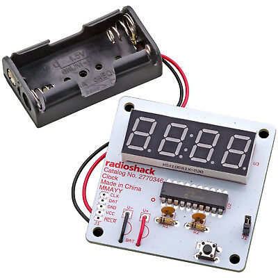 New Radio Shack Radioshack Build It Electronic Clock Kit 11 Pieces 2770346