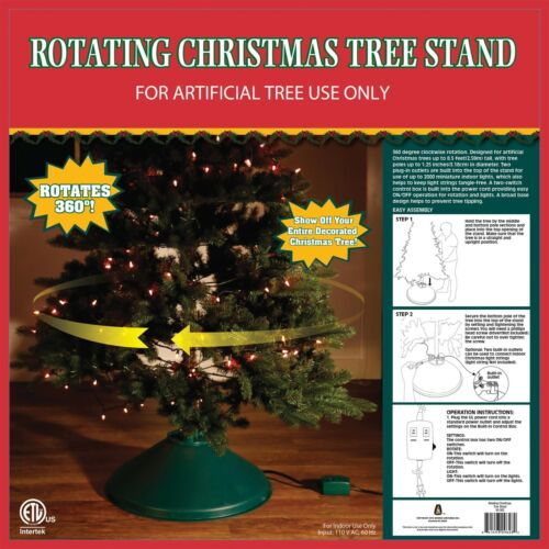 Rotating Christmas Tree Stand 360 Degree Turning Holiday Decoration Easy on/off