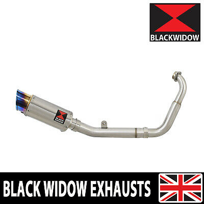 <em>YAMAHA</em> MT 125 14 19 LOW EXHAUST SYSTEM BLUE TIP STAINLESS SILENCER SL2