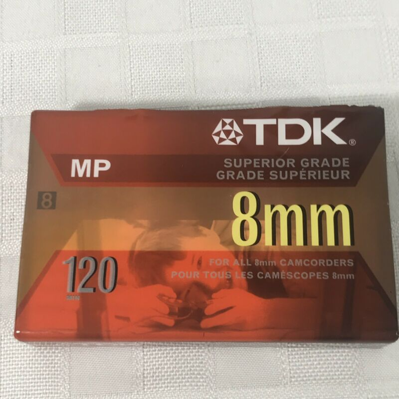 TDK 8mm Camcorder 120 Blank Tape New Sealed Superior Grade