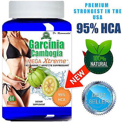 Pure Garcinia Cambogia Extract Mega 95  Hca Weight Loss Diet   Belly Burner Slim