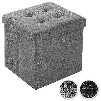 Faltbarer Sitzhocker Aufbewahrungsbox Sitzwürfel Hocker Faltbar Möbel 38x38x38cm (Würfel Aufbewahrung Möbel)