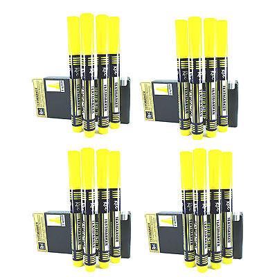 Rex Texmarker 1-4 mm Neonfarbe Gelb  für alle Papierarten 4x4 Stk (351)