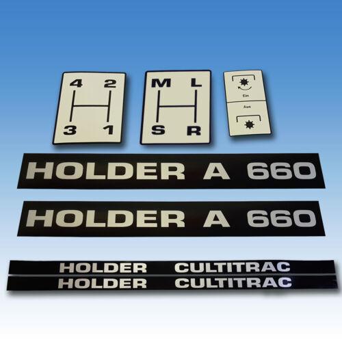 Aufkleber-Satz Holder A 660 mit Kabinenaufklebern 7-teilig Schlepper  Foto 1