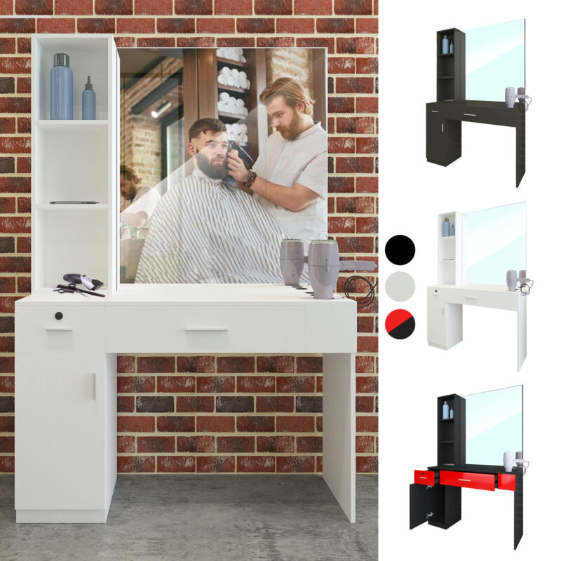 Barber Salon Station Wall Mount Hair Styling Makeup Beauty Spa Equipment Mirrors