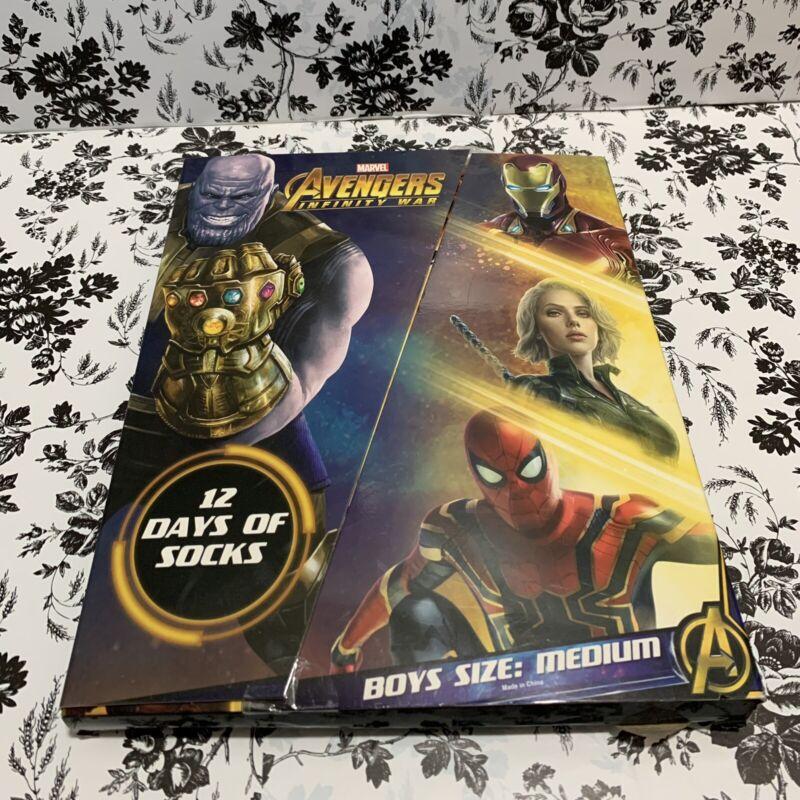 Avengers Infinity War Boys Socks Medium New 12 Pairs Advent Surprise Mystery