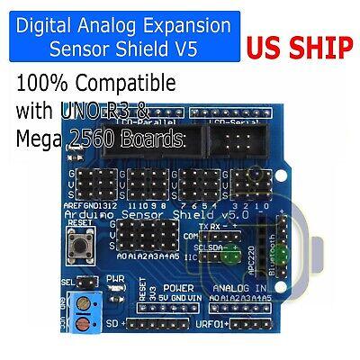 Sensor Shield Digital Analog Module Servo Motor For Arduino Uno R3 Mega V5 Sv2