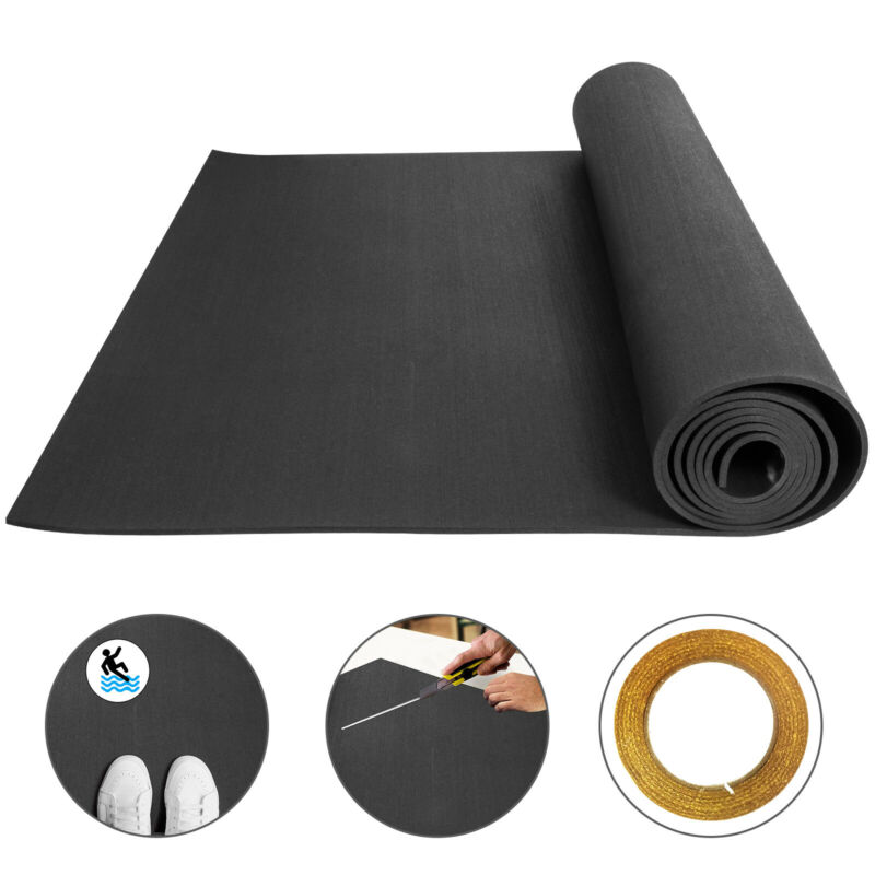 "Rubber Mats Flooring Roll Exercise Gym Floor Car 1/4"" Garage Shock Absorbent"