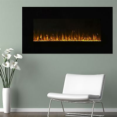 Northwest LED Electric Wall Mount Fireplace with Remote 36 Inches