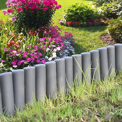 [casa.pro]® 10.8m Palisade Plant Flower Bed Patch Border Edging Dark Grey