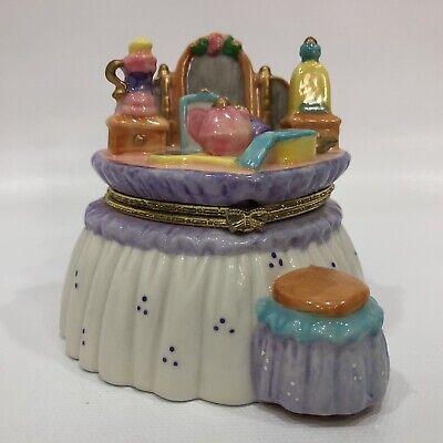 Mini Ceramic High End TrinKet Dressed Dresser Heart Shape Jewelry Box