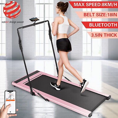 Electric Treadmill Intelligent Speed Control Remote Control Fitness w/Smart Band