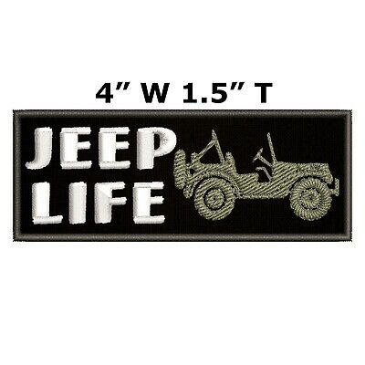 JEEP LIFE Embroidered Patch Iron-On / Sew-On Decorative Applique