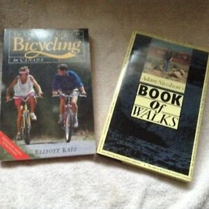 2 books, Book of Walks and  Guide to Bicycling in Canada
