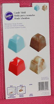 Square Candy Chocolate mold, Truffle, Wilton, Plastic, Bon Bon. Deep