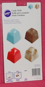 Square Candy Chocolate mold, Truffle, Wilton, Plastic, Bon Bon. Deep