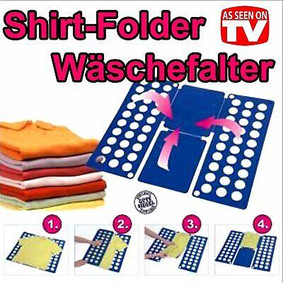 2er Set Faltbrett Blau   Wäschefalter Kunststoff   Wäschefaltbrett Hemdenfalter