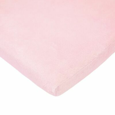 TL Care Heavenly Soft Chenille Fitted Cradle Sheet, Pink, for Girls Heavenly Soft Cradle Sheet