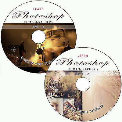 LEARN PHOTOSHOP CS6 FOR DIGITAL PHOTOGRAPHERS SOFTWARE TRAINING TUTORIALS 2 DVDs