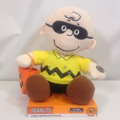 Musical Peanuts Halloween Charlie Brown Plush 50 Years Great Pumpkin Lights Up (Kids Friendly Halloween Music)