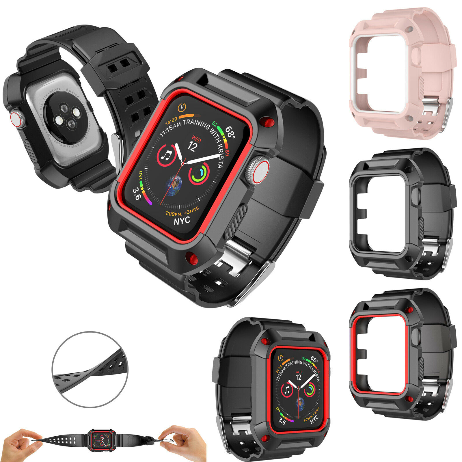 For Apple Watch Series 1/2/3 Protective Sport Cover Wristban