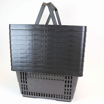 Black Plastic Shopping Basket x 10