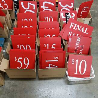 cheapest retail point of sale price signs- quality corrie board