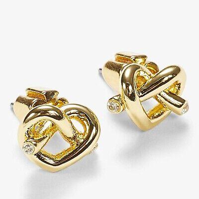 kate spade new york Loves Me Knot Stud Earrings, Gold