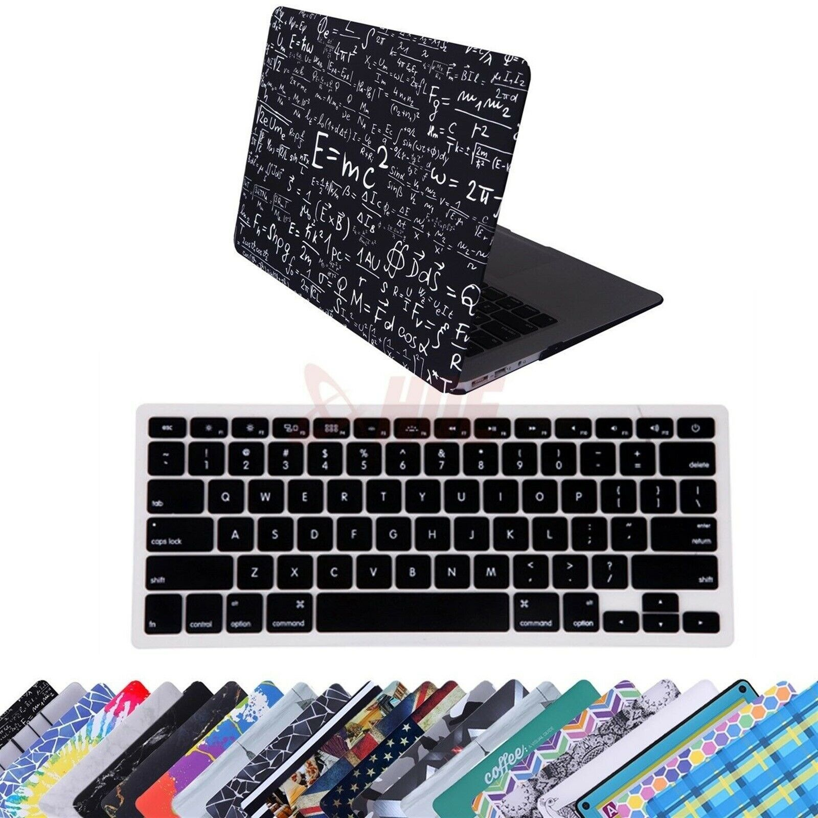 HDE MacBook Air 13 Inch Plastic Hard Case and Keyboard Cover