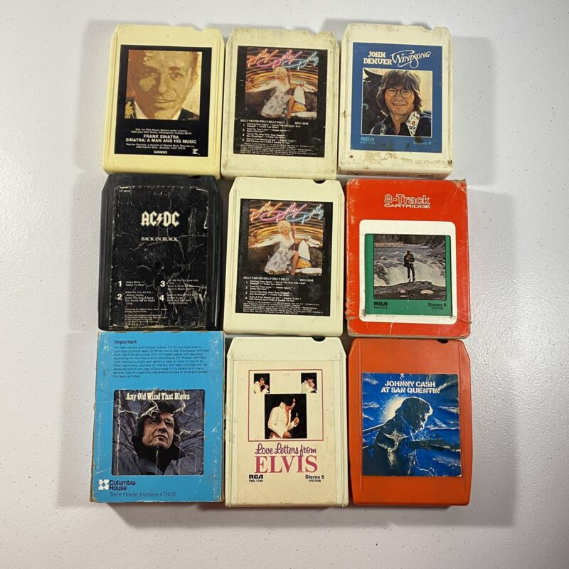 Lot of 72 8 Track Tapes Vintage & Untested