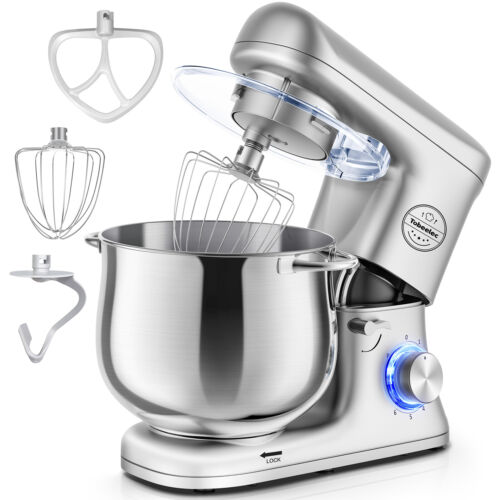 Pro Electric Food Stand Mixer 8.5-QT Tilt-Head 6-Speed Kitchen Stainless Bowl US