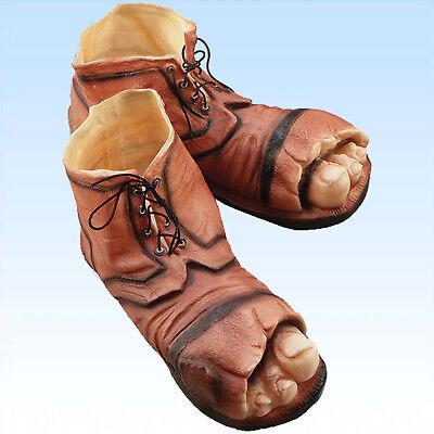Schuhe Urwaldmensch Römer Bigfoot riesige Füße Schuh Fußbekleidung Kostüme
