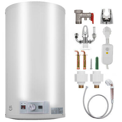 Calentador de agua eléctrico vertical 40L 2KW Con cabezal de ducha Cilindro