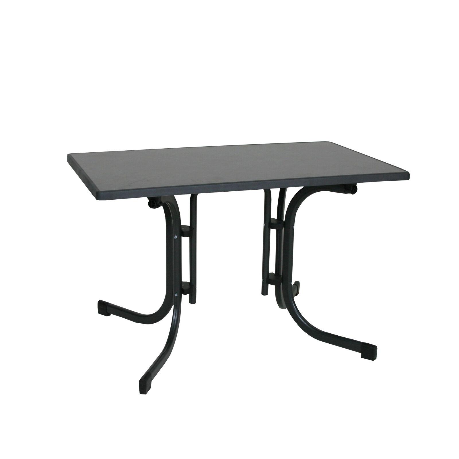 Aluminium Gartentisch Tisch Florabest Anthrazit