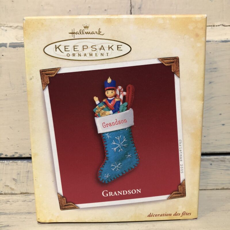 2005 Grandson Hallmark Keepsake Ornament Christmas