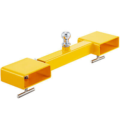 Dual Pallet Fork Attachment Clamp-on Trailer Mover Forklift Tractor Tools 5000lb