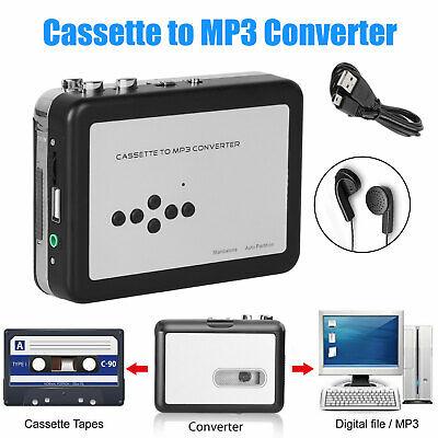Cassette Tape to Mp3 USB Converter Converter Recorder Capture Audio Music Player