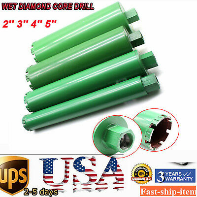 4Pcs 2'' 3'' 4'' 5'' Combo Wet Diamond Core Drill Bit for Concrete Premium Green