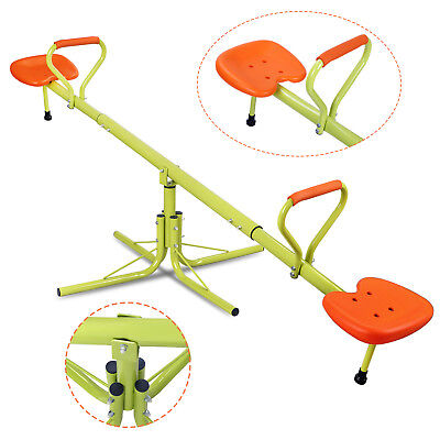 Playground Seesaw (360 Degree Rotation Outdoor Kids Seesaw Teeter Totter Swing Playground Play)