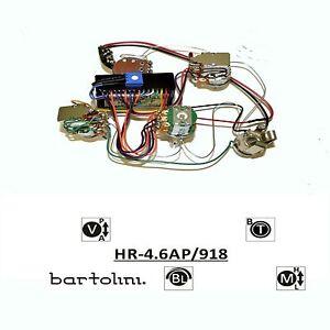 NEW Bartolini HR-4.6AP/918 Pre-Wired 3 Band EQ Active/Passive Bass Preamp Harnes