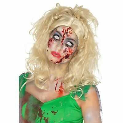 Zombies Blond Messy Pixie Fee Perücke Halloween Stecker Damen Maskenkostüm ()